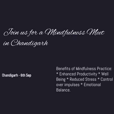 chandigarh mindfulness meet