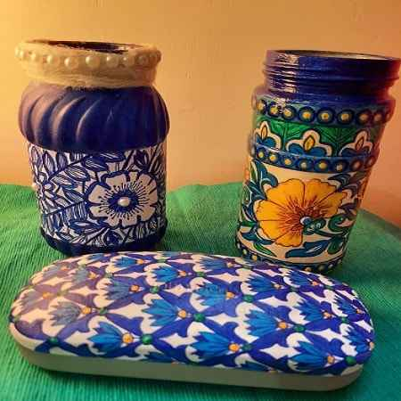 faux blue pottery virtual workshop