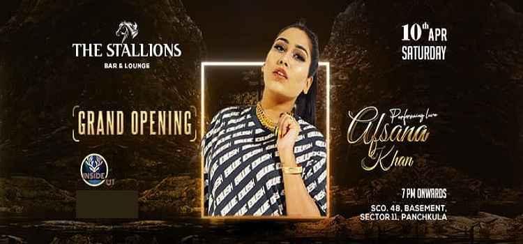 Afsana Khan Live At The Stallions Panchkula