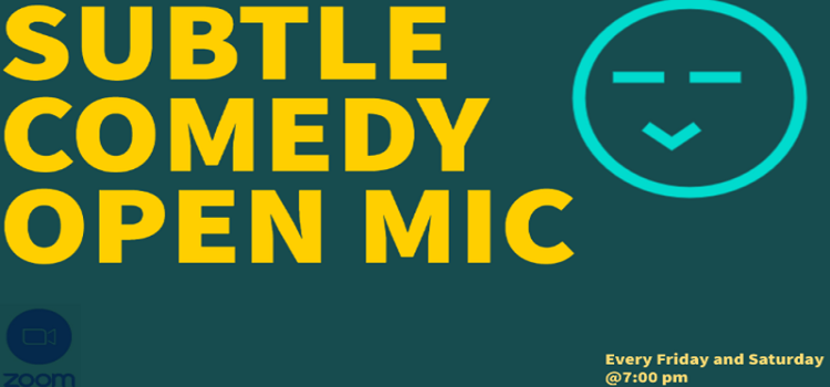 Online Open Mic Comedy