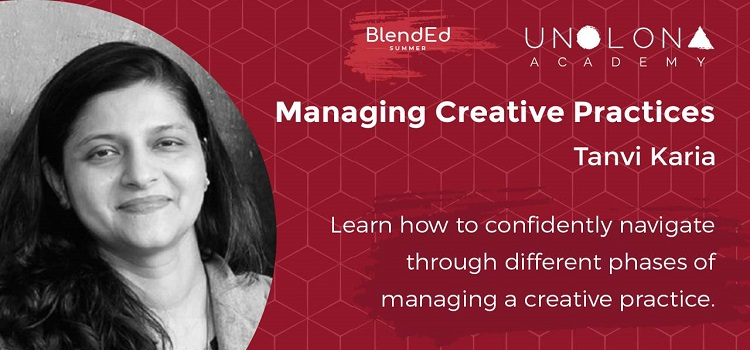 Managing Creative Practices ft. Tanvi Karia by Online Events