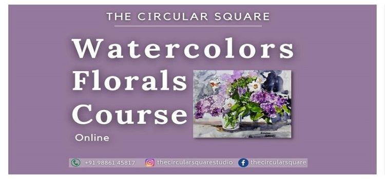 Online Watercolors Florals Course by Online Events