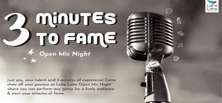 3 Minutes to Fame: An Online Event