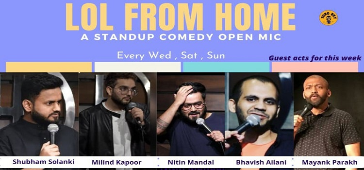 LOL From Home! A Stand-Up Comedy Open Mic