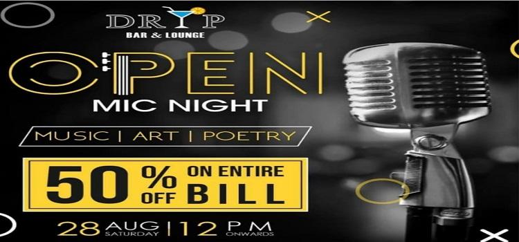 Open Mic Night At Dryp Bar & Lounge Chandigarh