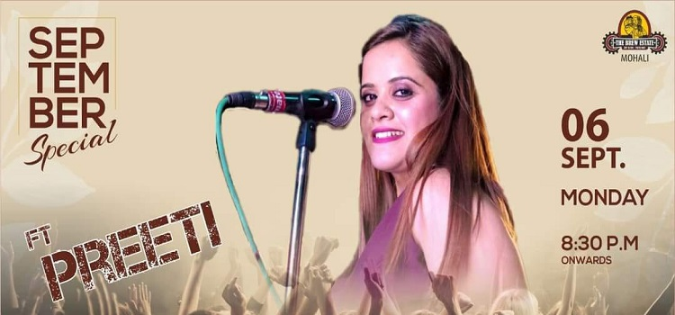 Live Music By Preeti At The Brew Estate Mohali