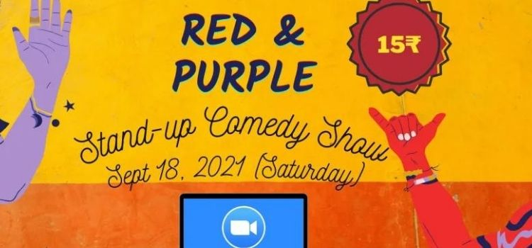 Red & Purple Virtual Standup Comedy