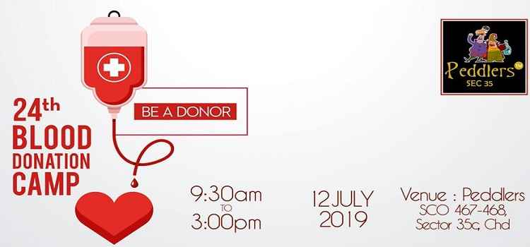 24th Blood Donation Camp at Peddlers