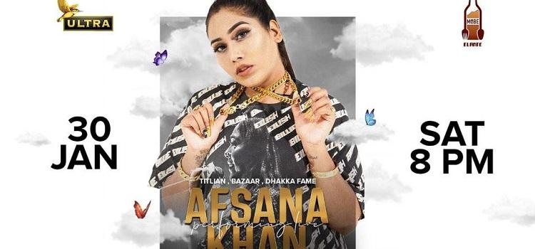 Afsana Khan Live At Mobe Elante Chandigarh