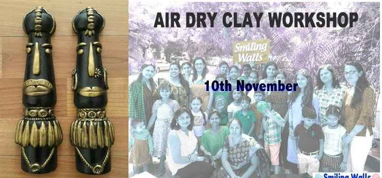 Air Dry Clay Workshop By Smiling Walls At Chandigarh