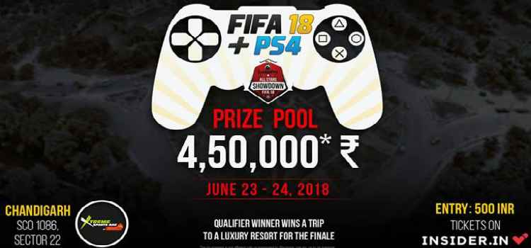 All The Gamer's In The Town Gear Up For All Stars Showdown- Fifa'18 at Xtreme Sports Bar And Grill, Chandigarh.