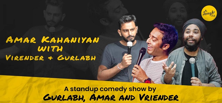 Amar With Virender & Gurlabh At Laugh Club
