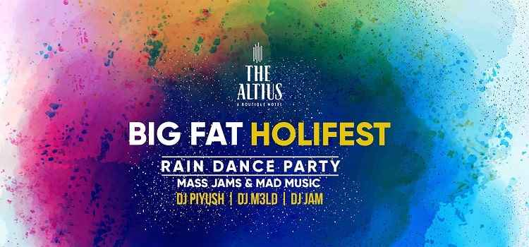 Big Fat HoliFest Party At The Altius Hotel Lawns