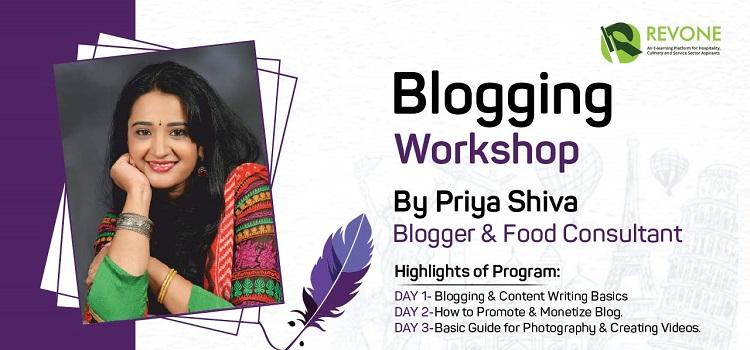 Blogging Workshop By Ms.Priya Shiva