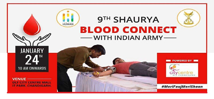 Blood Donation Camp For Indian Army In Chandigarh by DLF City Centre Mall