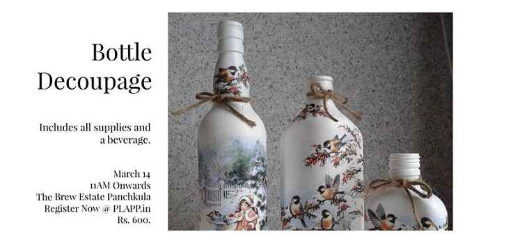 Bottle Decoupage Workshop At The Brew Estate