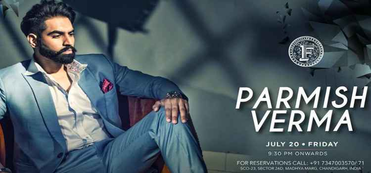 Catch Parmish Verma Live At Farzi Cafe, Chandigarh!