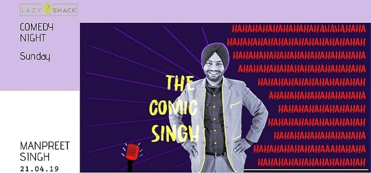 Comedy Night Ft. The Comic Singh At Lazy Shack