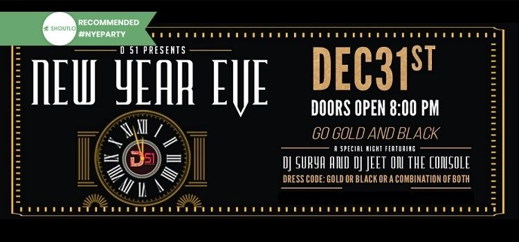 Go Gold & Black This NYE At Drinkery51 Chandigarh