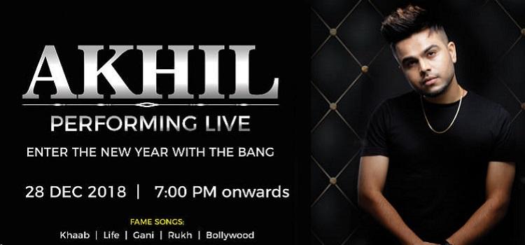 Enter The New Year With Bang : Akhil Performing Live At City Cabana
