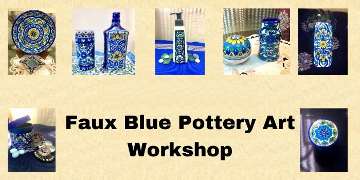 Rangshaala: Faux Blue Pottery Virtual Workshop