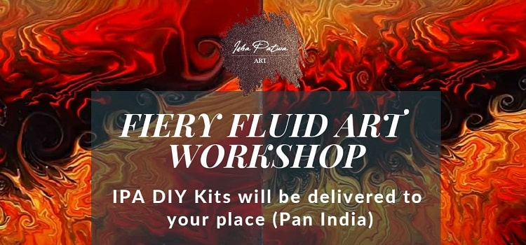 Fiery Fluid Art Online Workshop