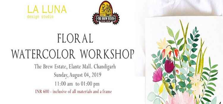 Floral Watercolor Workshop at The Brew Estate