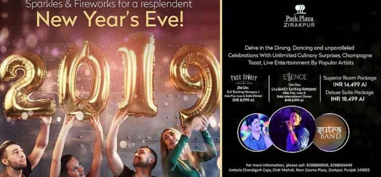 Get Ready For New Year Bash 2019 At Park Plaza, Zirakpur!