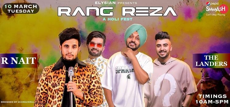 Rang Reza Holi Fest 2020 At Velvet Clarks Zirakpur
