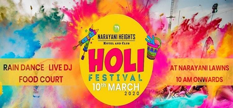 Holi Rain Dance Festival At Narayani Heights
