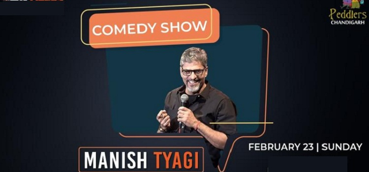 Comedian Manish Tyagi At Peddlers Chandigarh by Peddlers