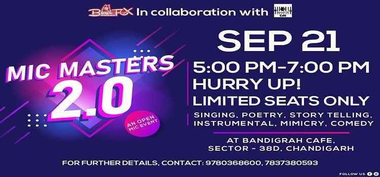 MIC Masters 2.0 At Bandigrah Cafe In Chandigarh by Bandigrah cafe