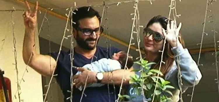 Mommie Kareena Kapoor and Daddy Saif Ali Khan introduces Baby Taimur to the World!
