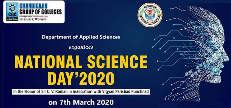National Science Day 2020 At CGC Jhanjheri Mohali
