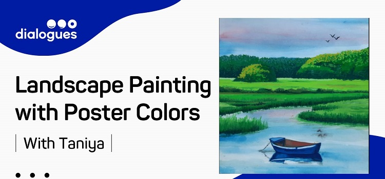 Learn Online Landscape Painting with Poster Colors