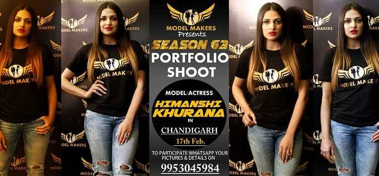 Photoshoot With Himanshi Khurana In Chandigarh