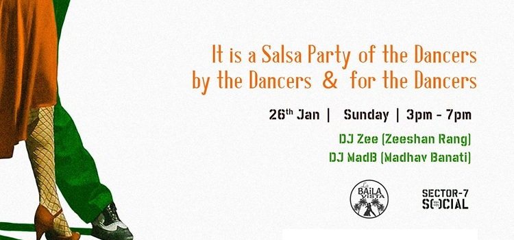Republic Day Salsa Workshop & Party At Social by Social Sector 7