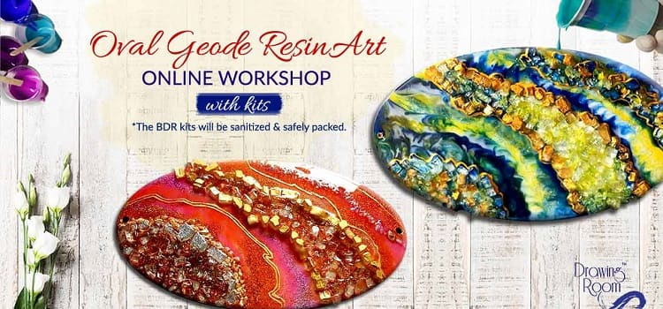 Resin Art And Geode Making – Online Session by Online Events