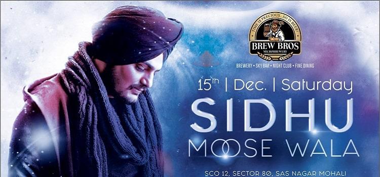 Sidhu Moose Wala Star Night At Brew Bros, Chandigarh