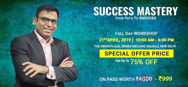 Success Mastery Workshop In Delhi by The Orion Plaza