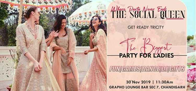 The Social Queen - Biggest Ladies Party at Grapho