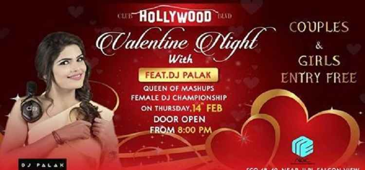 Valentine Night With DJ Palak At Club Hollywood