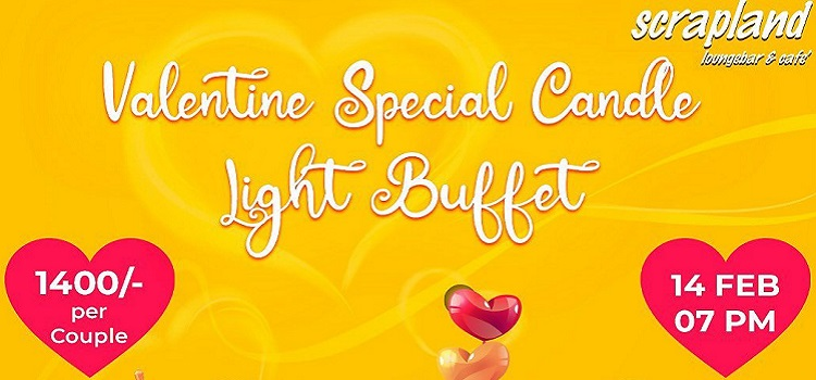 Valentine Special Candle Light Buffet At Scrapland