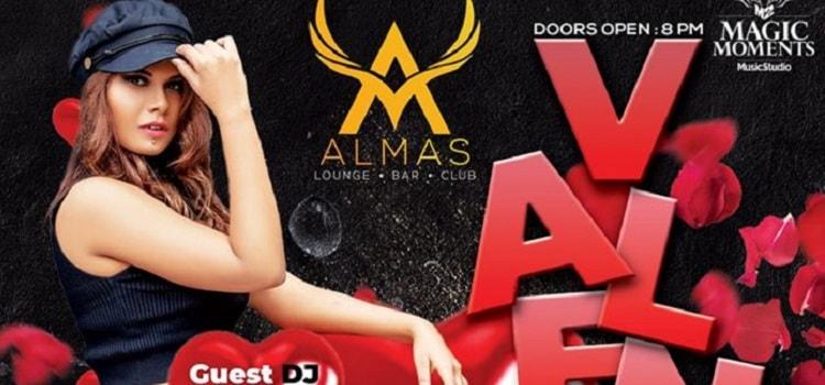 Valentine's Party with DJ Neharika At Almas Club