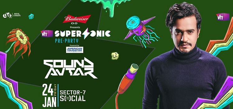 Vh1 Supersonic Pre-Party ft. Sound Avtar At Social by Social Sector 7