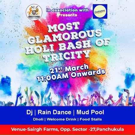 holi bash at fort ramgarh panchkula 2019