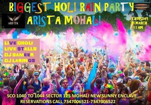 holi party at arista mohali 2019