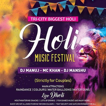 Grand Holi Festival 2020 At Hotel North Park
