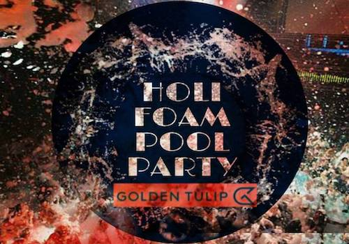 Holi Foam Pool Party at Golden Tulip