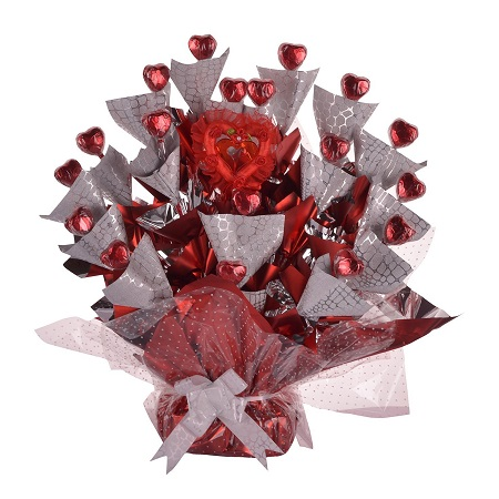 Red Heart shaped Chocolate Bouquet